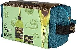 Düfte, Parfümerie und Kosmetik Haarpflegeset - Nature Box Avocado Oil (Shampoo 385ml + Haarmaske 200ml + Kosmetiktasche)