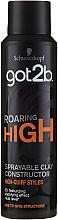 Düfte, Parfümerie und Kosmetik Spritzbarer Tonkonstrukteur für das Haar - Schwarzkopf Got2b Roaring High Sprayable Clay Constructor