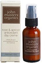 Düfte, Parfümerie und Kosmetik Antioxidative Gesichtscreme mit Rose und Aprikose - John Masters Organics Rose & Apricot Antioxidant Day Cream