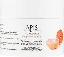 Düfte, Parfümerie und Kosmetik Natürliches Salzpeeling mit Mineralien aus dem Toten Meer, Extrakt aus Grapefruit, Arganöl und Sheabutter - APIS Professional Grapefruit terApis Salt for Hands