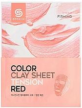 Düfte, Parfümerie und Kosmetik Straffende Tuchmaske für das Gesicht mit roter Tonerde - G9Skin Color Clay Sheet Tension Red