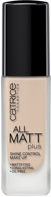 Langanhaltende matte Foundation - Catrice All Matt Plus Shine Control Make Up — Bild N1