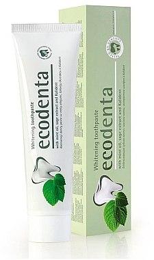 Aufhellende Zahnpasta mit Minzöl, Salbei-Extrakt und Kalident - Ecodenta Whitening Toothpaste — Bild N2