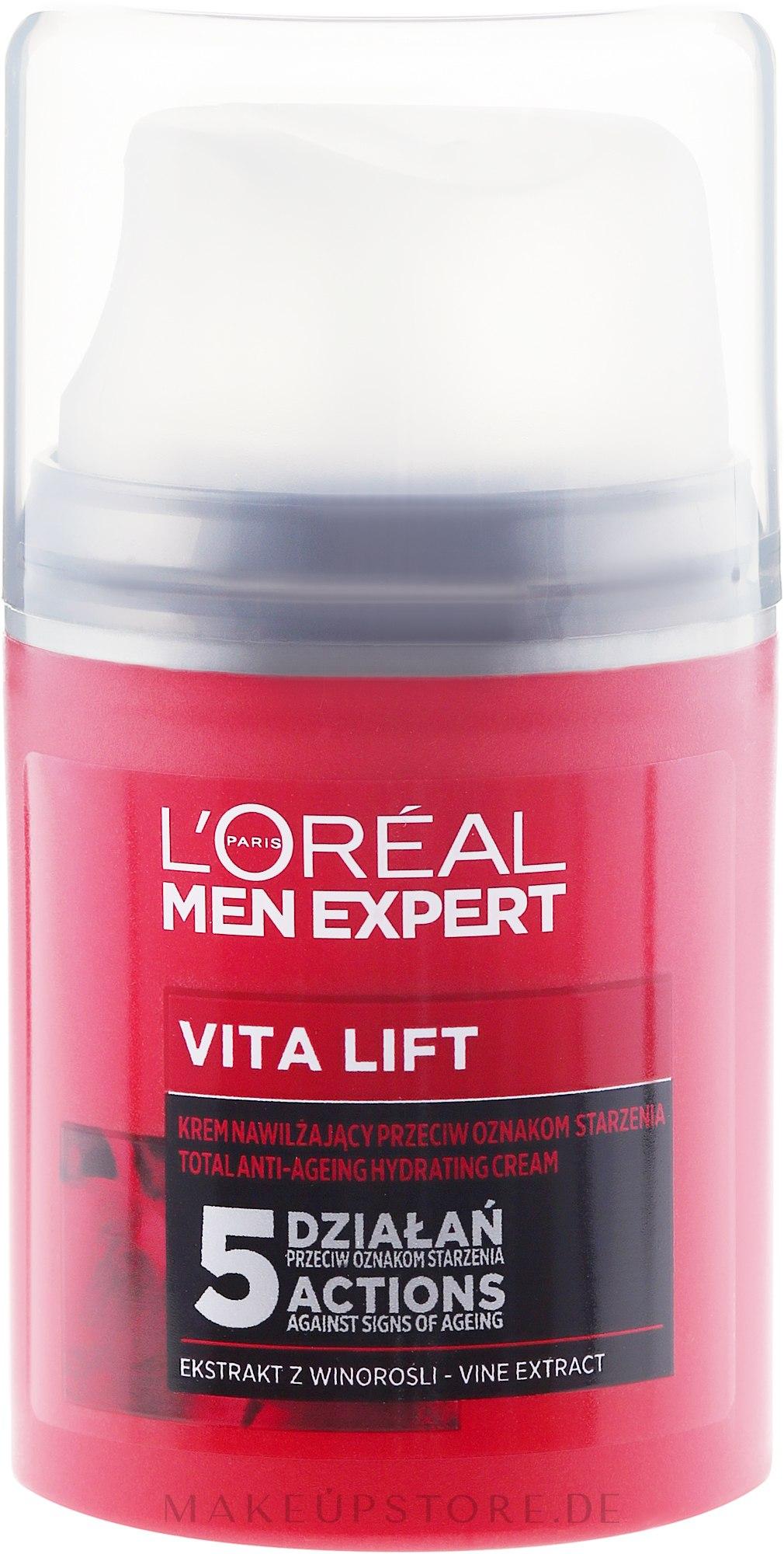 Feuchtigkeitsspendende Anti-Aging-Creme für Männer - L