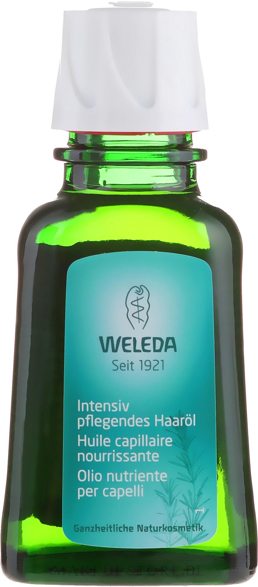 Intensiv pflegendes Öl für sprödes und brüchtiges Haar - Weleda Nourishing Hair Oil — Bild 50 ml