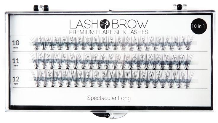 Wimpernbüschel-Set - Lash Brown Premium Flare Silk Lashes Spectacular Long — Bild N1