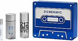 Düfte, Parfümerie und Kosmetik Carolina Herrera 212 Men NYC - Duftset (Eau de Toilette 100ml + Deodorant 150ml + Eau de Toilette 10ml)