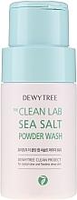 Düfte, Parfümerie und Kosmetik Reinigungspuder mit Meersalz zum Abwaschen abgestorbener Hautzellen und klarer Poren - Dewytree The Clean Lab Sea Salt Powder Wash