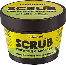 Düfte, Parfümerie und Kosmetik Körperpeeling mit Ananas Enzym und Avocadoöl - Cafe Mimi Body Scrub Pine Apple & Avocado