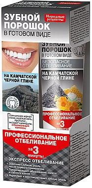 3-Minuten aufhellendes Zahnpulver mit schwarzer Tonerde aus Kamtschatka - Fito Kosmetik Volksrezepte — Bild N1