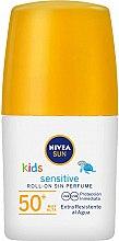 Düfte, Parfümerie und Kosmetik Sonnenschützendes Creme Roll-on für empfindliche Kinderhaut SPF 50+ - Nivea Sun Kids Protect & Sensitive Roll-on SPF50