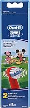 Düfte, Parfümerie und Kosmetik Zahnbürstenkopf für Kinderzahnbürste EB10k Mickey 2 St. - Oral-B Stages Power Disney