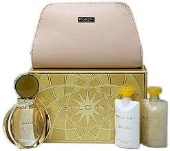 Düfte, Parfümerie und Kosmetik Bvlgari Goldea - Duftset (Eau de Parfum 90ml + Duschgel 75ml + Körpermilch 75ml + Kosmetiktasche)
