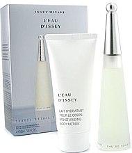 Düfte, Parfümerie und Kosmetik Issey Miyake L'Eau D'Issey - Duftset (Eau de Toilette/ 50ml + Körperlotion/75ml)