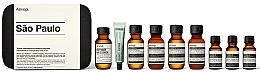 Düfte, Parfümerie und Kosmetik Körperpflegeset - Aesop Sao Paulo Travel Essentials Kit (Shampoo 50ml + Conditioner 50ml + Duschgel 50ml + Körperbalsam 50ml + Mundwasser 50ml + Zahnpasta 10ml + Antioxidativer Gesichtswasser 15ml + Antioxidansserum 15ml)