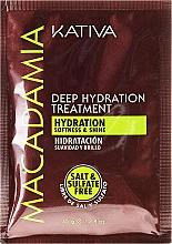 Düfte, Parfümerie und Kosmetik Intensiv feuchtigkeitsspendende Maske für normales und strapaziertes Haar - Kativa Macadamia Deep Hydrating Treatment