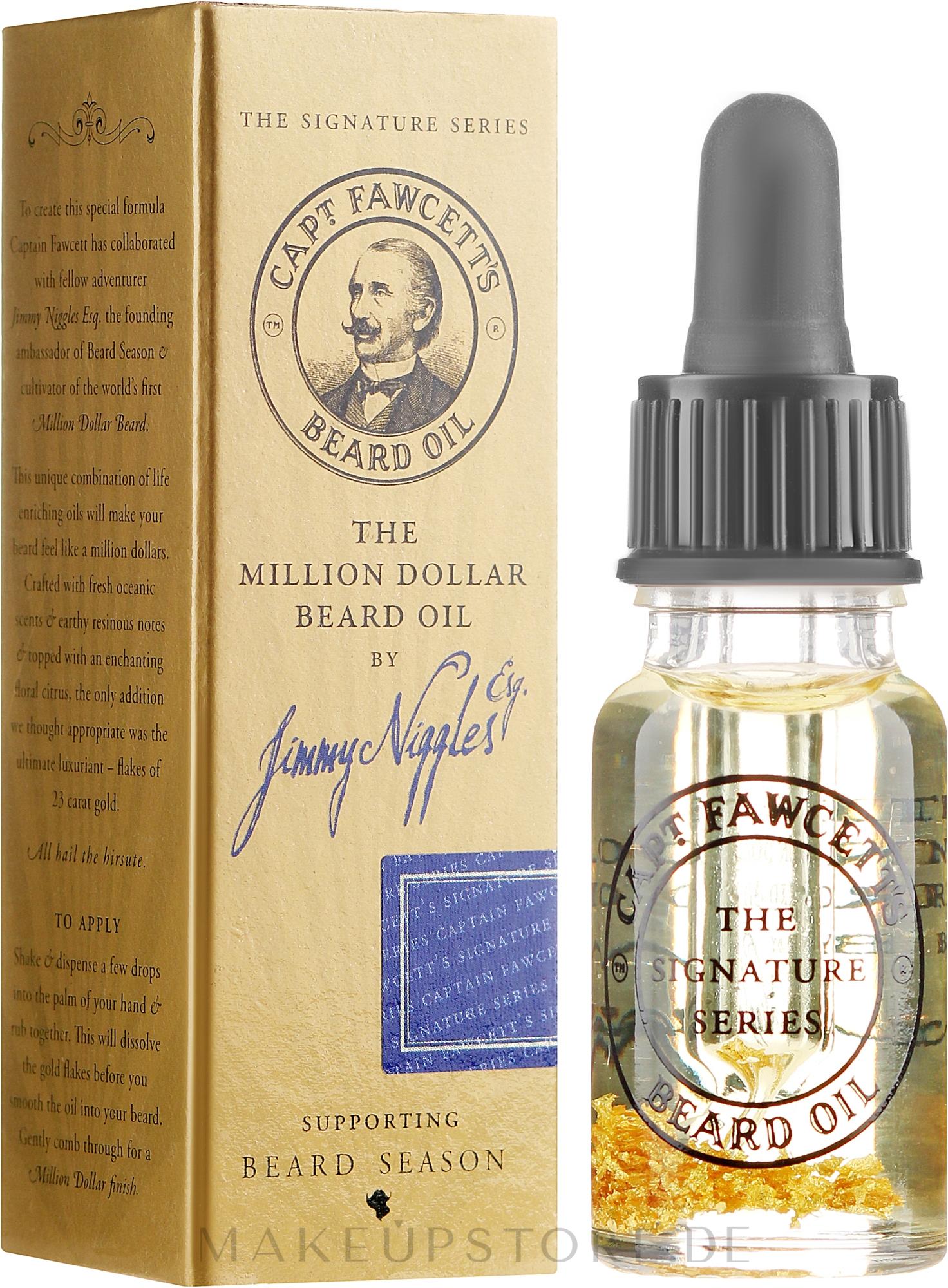 Bartöl - Captain Fawcett The Million Dollar Beard Oil by Jimmy Niggles — Bild 10 ml