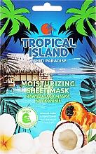 Düfte, Parfümerie und Kosmetik Feuchtigkeitsspendende Tuchmaske mit Kokosnusswasser und Tiareblume - Marion Tropical Island Tahiti Paradise Moistirizing Sheet Mask