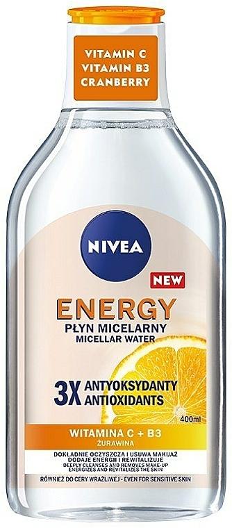 Mizellen-Reinigungswasser mit Vitaminen für empfindliche Haut - Nivea Energy Vitamin C + Vitamin B3 + Cranberry — Bild N1
