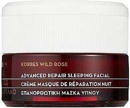 Düfte, Parfümerie und Kosmetik Regenerierende Creme-Maske für die Nacht mit Wildrose - Korres Wild Rose Advanced Repair Sleeping Facial