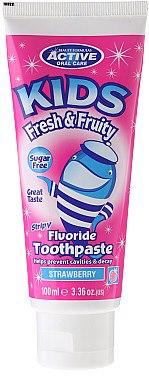 Kinderzahnpasta ohne Zucker mit Erdbeergeschmack und Fluorid - Beauty Formulas Active Oral Care — Bild N1