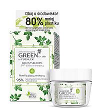 Düfte, Parfümerie und Kosmetik Gesichtspflegeset - Floslek Green For Skin (Gesichts-, Hals- und Dekolletécreme für den Tag 50ml + Kosmetikglas)