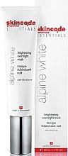 Düfte, Parfümerie und Kosmetik Aufhellende Übernachtmaske - Skincode Essentials Alpine White Brightening Overnight Mask