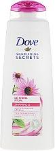 Düfte, Parfümerie und Kosmetik Nährendes Shampoo mit Echinacea und weißem Tee - Dove Nourishing Secrets De-Stress Ritual