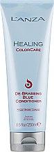 Düfte, Parfümerie und Kosmetik Pflegespülung mit blauen und blau-grünen Farbpigmenten zur Neutralisierung von unerwünschtem Messing- und Orangestich - L'anza Healing ColorCare De-Brassing Blue Conditioner