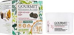 Düfte, Parfümerie und Kosmetik Regenerierende Anti-Falten Nachtcreme mit schwarzem Trüffelextrakt 65+ - BelKosmex Gourmet Delicatesse De Truffe Cream