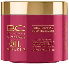 Düfte, Parfümerie und Kosmetik Haarmaske für alle Haartypen mit Paranussöl - Schwarzkopf Professional Bonacure Oil Miracle Brazilnut Pulp Treatment
