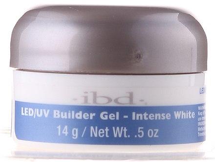 Weißfarbenes Aufbau Nagel-Gel - IBD LED/UV Builder Intense White Gel — Bild N1