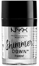 Düfte, Parfümerie und Kosmetik Intensiv schimmerndes Pigment für strahlende Augen - NYX Professional Make Up Shimmer Down Pigment