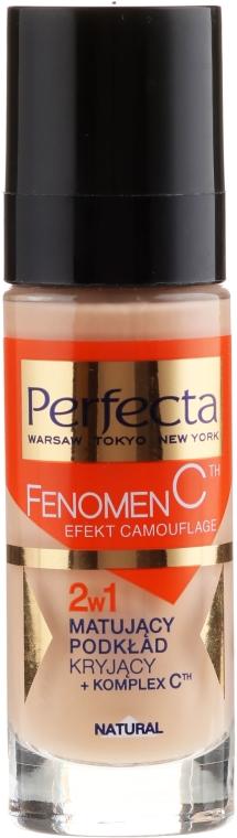 Mattierende Foundation mit Vitamin C 2in1 - Perfecta Make-Up Fenomen C — Bild N1