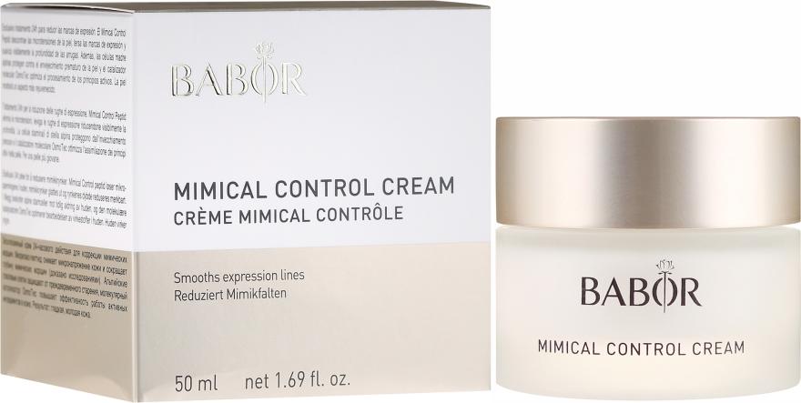 Leichte 24h Pflegecreme zur Reduzierung von Mimikfältchen - Babor Mimical Control Cream — Bild N1