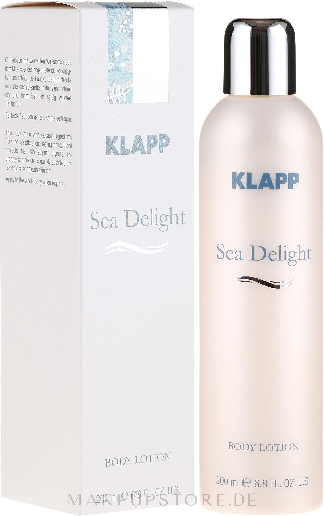 Pflegende Körperlotion mit Chlorella und Traubenkernöl - Klapp Sea Delight Body Lotion — Bild 200 ml