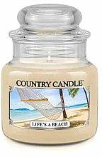 Düfte, Parfümerie und Kosmetik Duftkerze im Glas Life's A Beach - Country Candle Life's A Beach