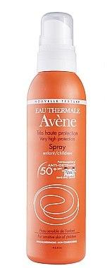 Wasserfestes Sonnenschutzspray für Kinder SPF 50+ - Avene Solaires Spray For Children SPF 50+ New Texture — Bild N1