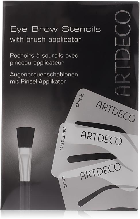 Augenbrauenschablonen mit Pinsel-Aplikator - Artdeco Eyebrow Stencials with Brush — Bild N1