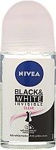 Düfte, Parfümerie und Kosmetik Deo Roll-on Antitranspirant - Nivea Invisible Black & White Clear