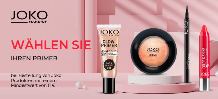 Bei Bestellung von Joko Produkten mit einem Mindestwert von 11 € bekommen Sie einen Primer als Geschenk von uns