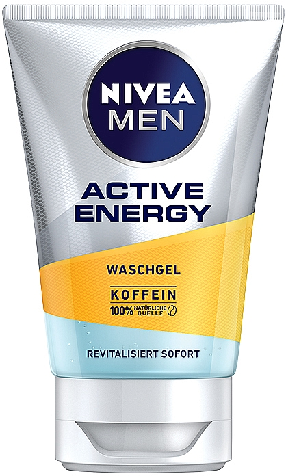 Gesichtswaschgel mit Koffein für Männer - Nivea Men Active Energy Caffeine Face Wash Gel