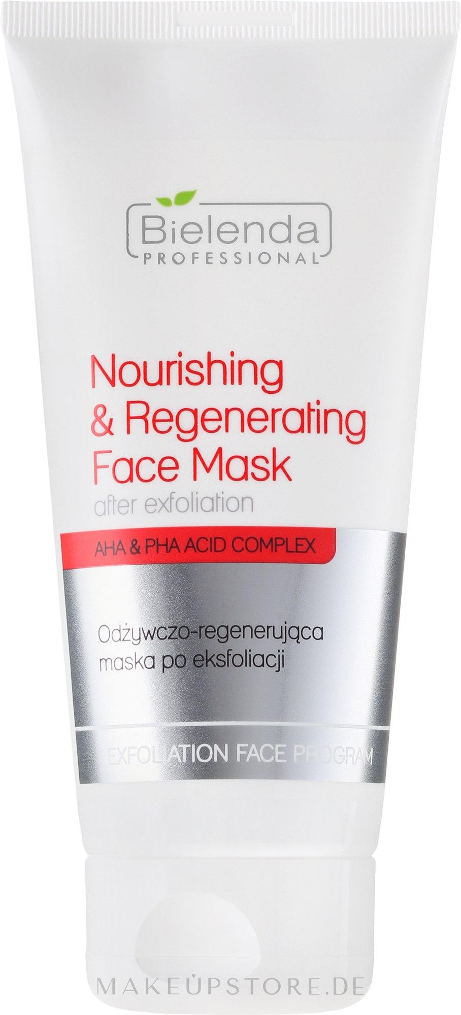 Pflegende und regenerierende Maske nach dem Peeling - Bielenda Professional Exfoliation Face Program Nourishing And Regenerating Face Mask — Bild 175 ml