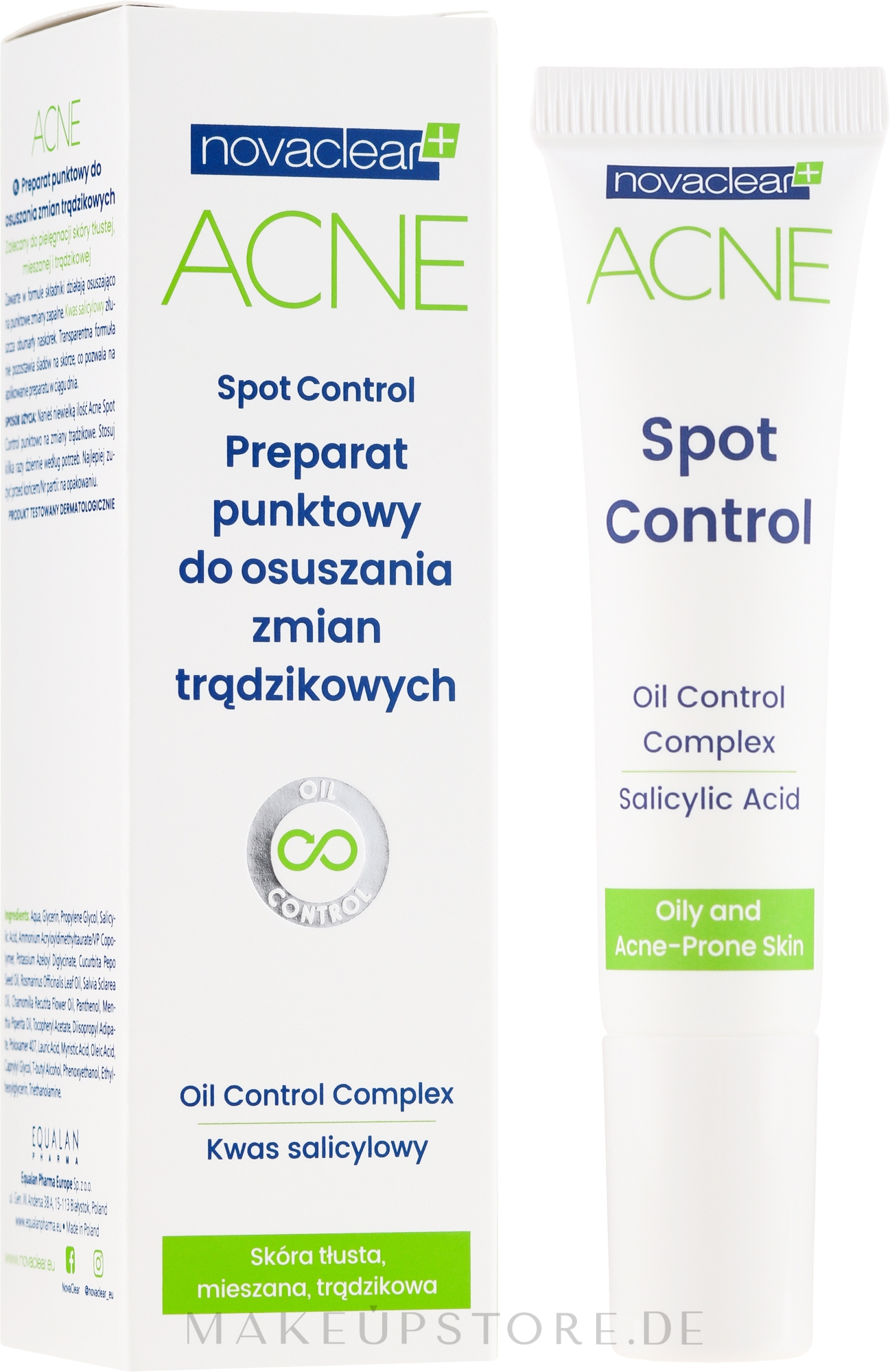 Gesichtsgel mit Salicylsäure gegen Akne - Novaclear Acne Spot Control — Bild 10 ml