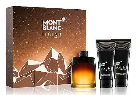Montblanc Legend Night - Duftset (Eau de Parfum 100ml + Duschgel 100ml + After Shave Balsam 100ml) — Bild N1
