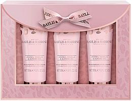 Düfte, Parfümerie und Kosmetik Handpflegeset - Baylis & Harding Jojoba, Vanilla & Almond Oil Hand Cream Set (Handcreme 50mlx3)