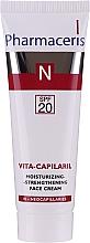 Düfte, Parfümerie und Kosmetik Feuchtigkeitsspendende und stärkende Gesichtscreme SPF 20 - Pharmaceris N Vita Capilaril Moisturizing-Strengthening Face Cream SPF20