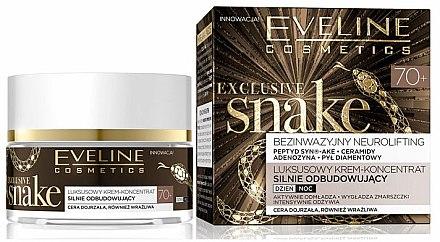 Intensiv regenerierendes Gesichtspflegekonzentrat 70+ - Eveline Cosmetics Exclusive Snake 70+ — Bild N1