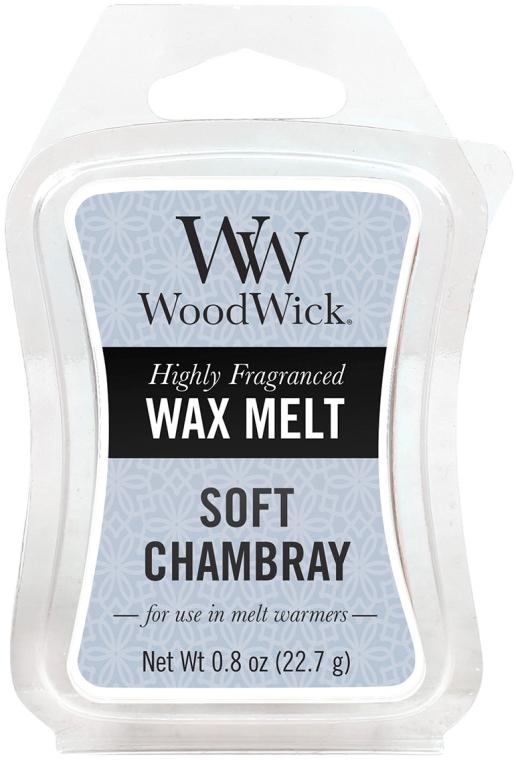 Tart-Duftwachs Soft Chambray - WoodWick Mini Wax Melt Soft Chambray Smart Wax System — Bild N1