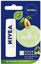 Düfte, Parfümerie und Kosmetik Lippenbalsam mit Sheabutter und Avocadoöl SPF 15 - Nivea 24H Melt-in Natural Avocado Lip Balm SPF15
